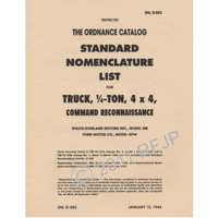 book, SNL G503 1944, Parts List parts-44