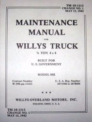 book, TM10-1513, Willys Maintenance mb-maint